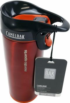 nordicsports CAMELBAK Forge Edelstahl Thermobecher 355ml, rot